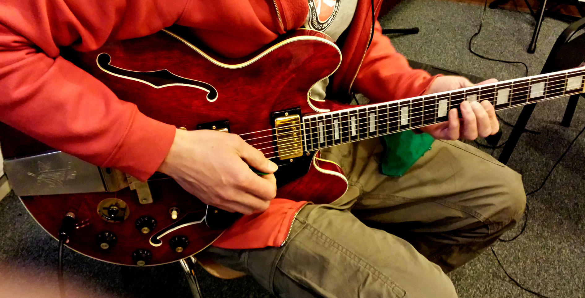 Bertand - Enregistrement guitare pour l'album I'm all right