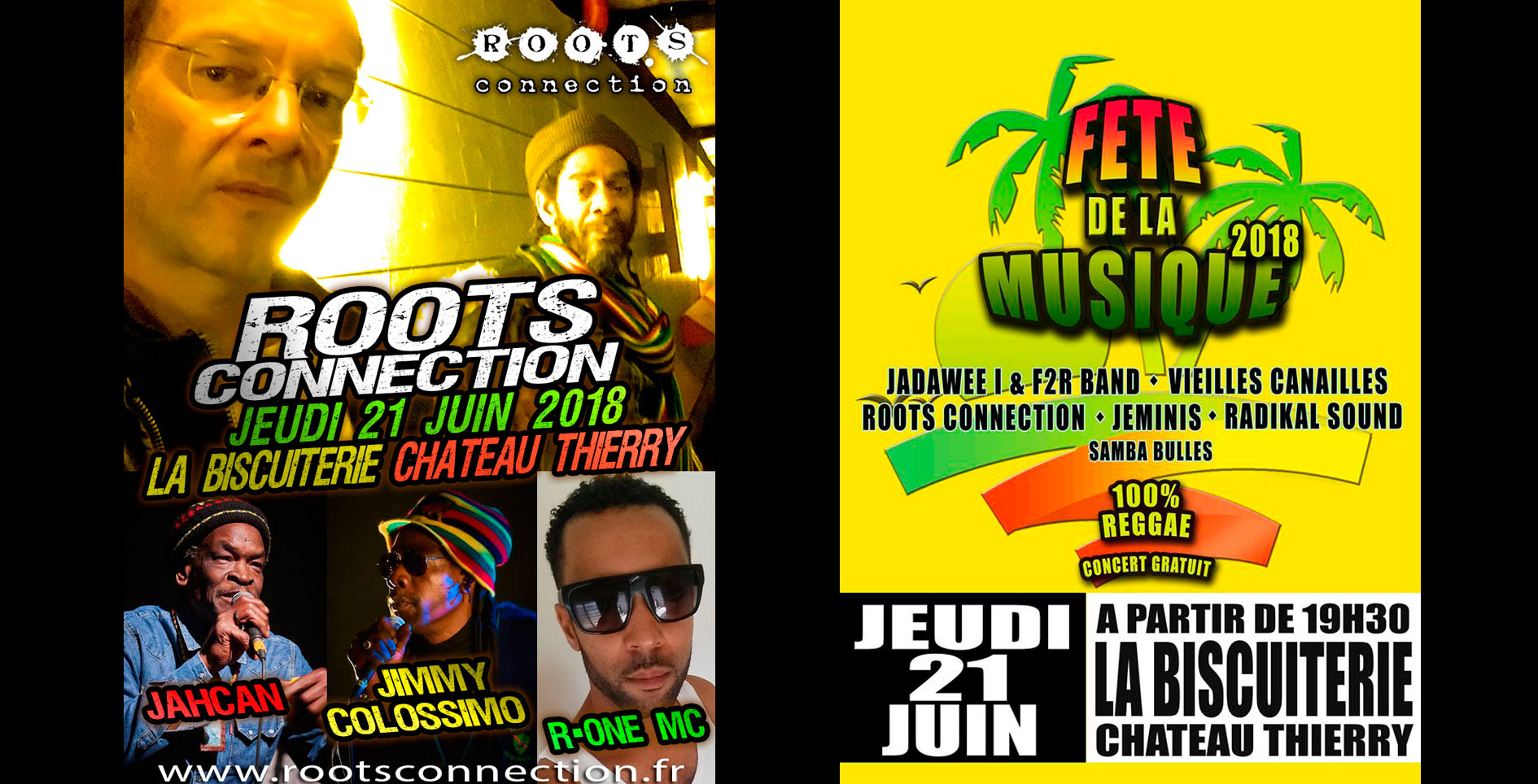 Roots Connection live La Biscuiterie - 21 juin CHATEAU-THIERRY